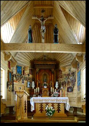Wnętrze kaplicy - Wiktorówki