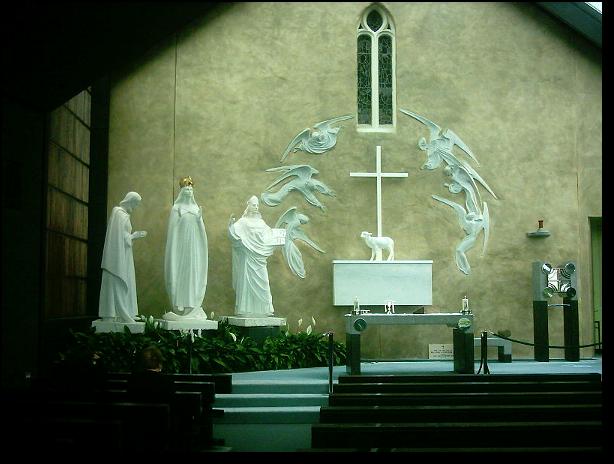 Ołtarz w kaplicy w Knock