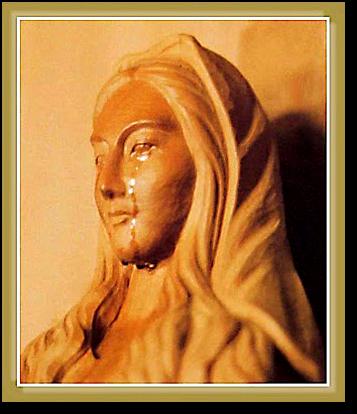 Płacząca figurka Matki Boskiej z Akita
