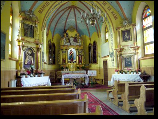 Sanktuarium Najświętszej Marii Panny Wspomożenia Wiernych w Przyłękowie – wnętrze