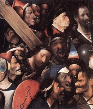 Chrystus dźwigający krzyż, mal. Hieronim Bosch