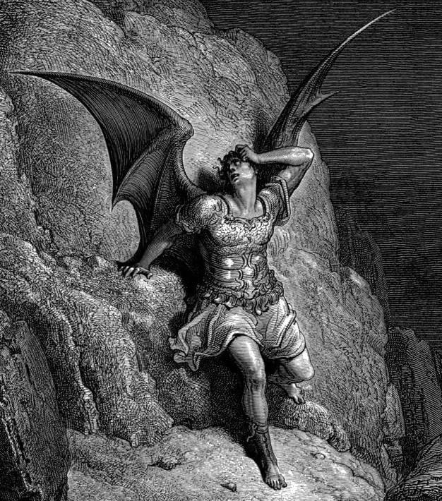Szatan, grafika Gustawa Doré