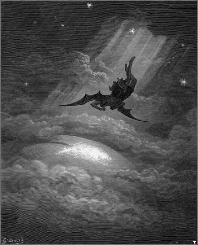 Upadek Lucyfera, ilustracja Gustave Doré
