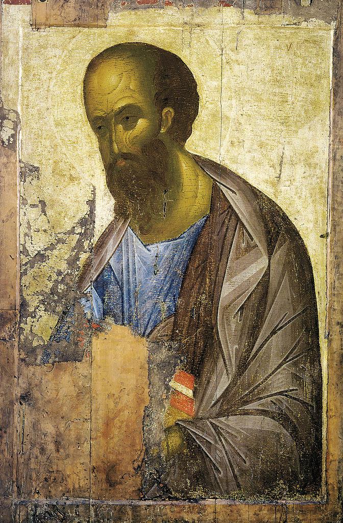 Św. Paweł, Andrzej Rublow - malarstwo temperowe