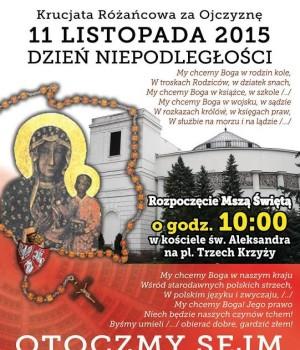 Krucjata Różańcowa za Ojczyznę zaprasza 11 listopada na modlitwę