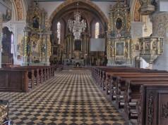 Kolegiata Wszystkich Świętych w Sieradzu - wnętrze kolegiaty, fot. Robert Rydwelski (CC BY-SA 4.0)