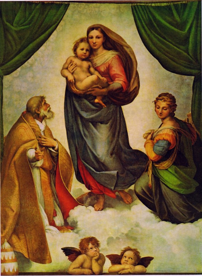 Madonna Sykstyńska, mal. Rafael Santi